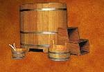 Dompelbad Lariks 100 x 72 x 100 cm (lxbxh)