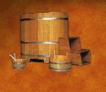 Dompelbad Lariks 110 x 77 x 100 cm (lxbxh)